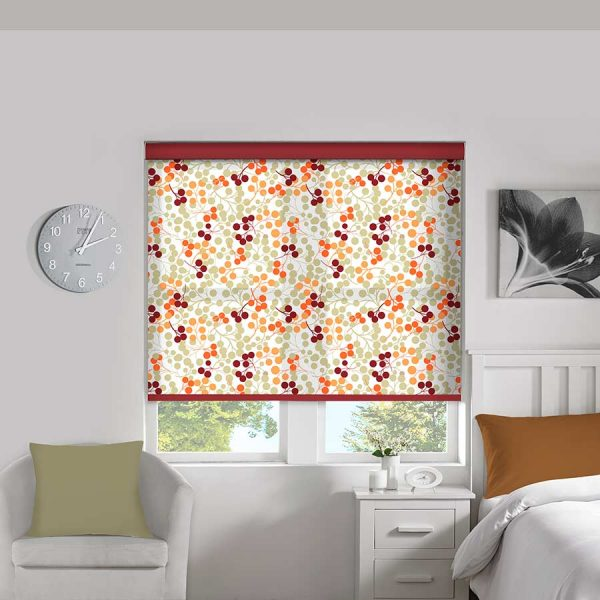 Berries Orange Roller Blind 1
