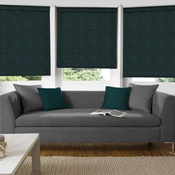 Feather Peacock Roller Blind 1