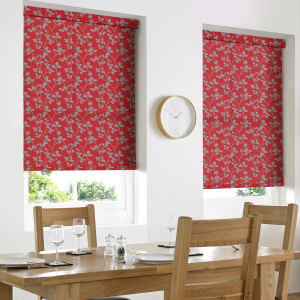 Leaf Flame Roller Blind 1