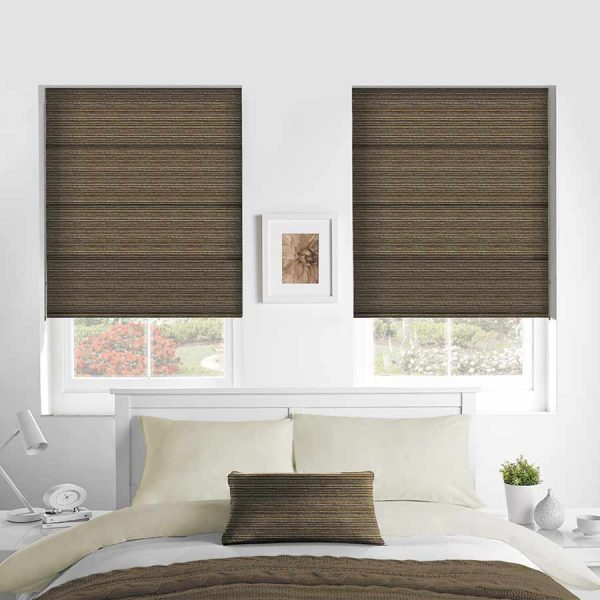Calico Cinamon Roman Blind 1