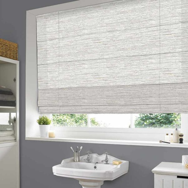 Calico Oyster Roman Blind 1
