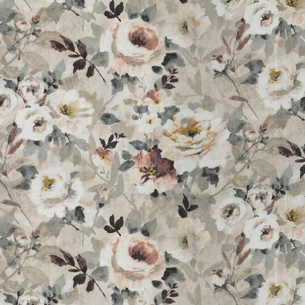 Floral Taupe Roman Blind 2