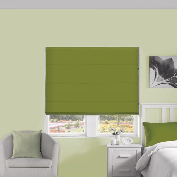 Plains Lime Roman Blind 1