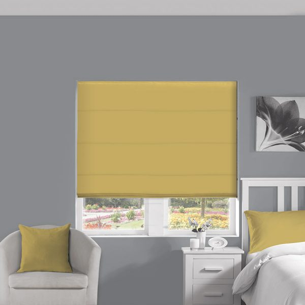 Silky Gold Roman Blind 1