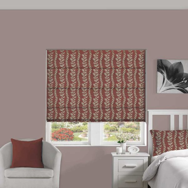Tendril Blush Roman Blind 1
