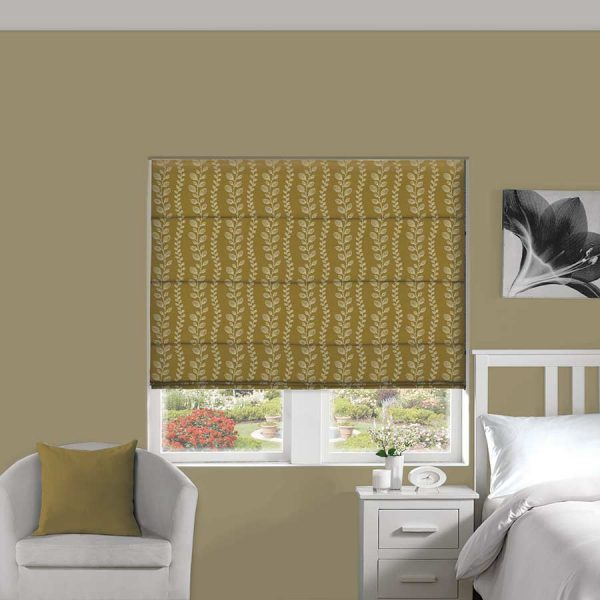 Tendril Merigold Roman Blind 1