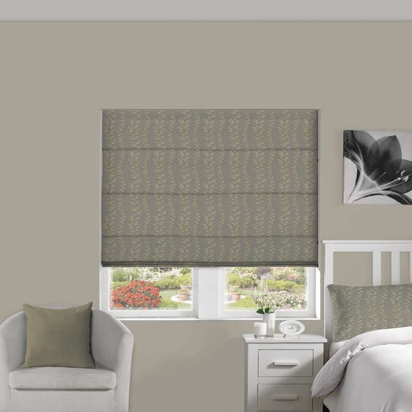 Tendril Pebble Roman Blind 1