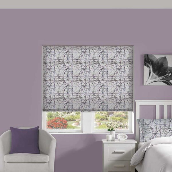 Abstract Amethyst Roman Blind 1